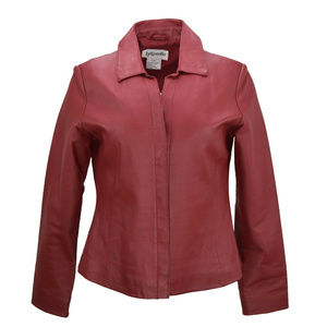 Bagatelle Womens Leather Jacket Blazer Red Size 6